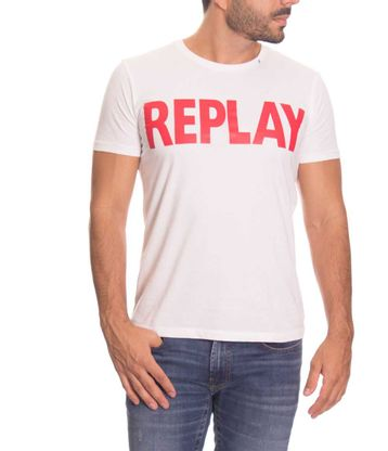 Camiseta-Replay-Azul-Talla-L